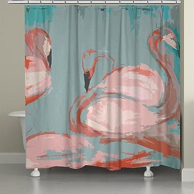 LauralHome Flamingos Shower Curtain
