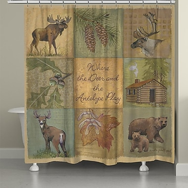 LauralHome Deer and Antelope Shower Curtain