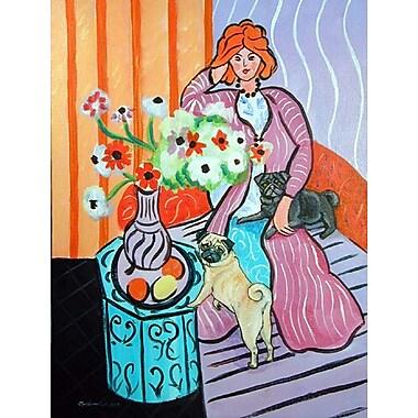 Caroline's Treasures Lady w/ her Pug 2-Sided Garden Flag