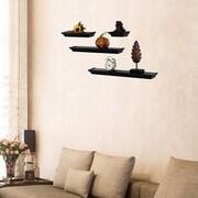 AdecoTrading 4 Piece Floating Wall Shelf Set