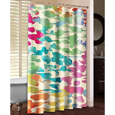 LauralHome Splashes of Color Shower Curtain