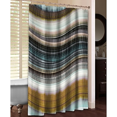 LauralHome Rumba I Shower Curtain; Brown