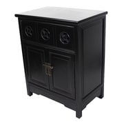 Heather Ann 1 Drawer and 2 Doors Cabinet; Black