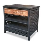 Heather Ann 1 Drawer Acccent Cabinet; Black