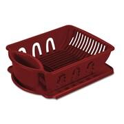 "Sterilite Sink Set, 17-3/8"" x 13-1/8"" x 5-1/4'', Regular, Classic Red, 2/Pack"