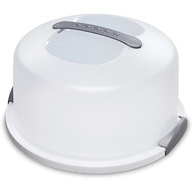 Sterilite – Cloche à gâteau transportable 14033, 13 7/8 x 13 5/8 x 8 (po), blanc