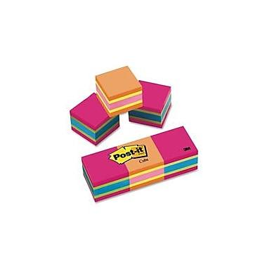 3M Post-it Bright Colors Memo Cube, 2