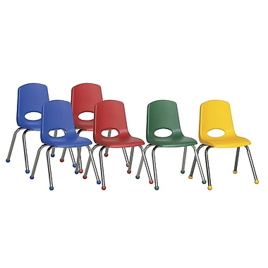 ECR4Kids® – Ensemble de chaises empilables, 6 pièces, 14 po