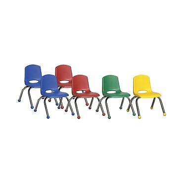 ECR4Kids® – Ensembles de chaises empilables, 6 pièces