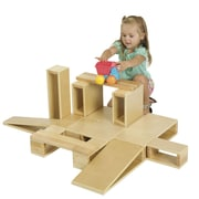 ECR4Kids® 18-Piece Wooden Hollow Blocks Set