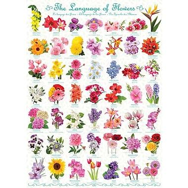 Affiche le langage des fleurs, 24 x 36 po