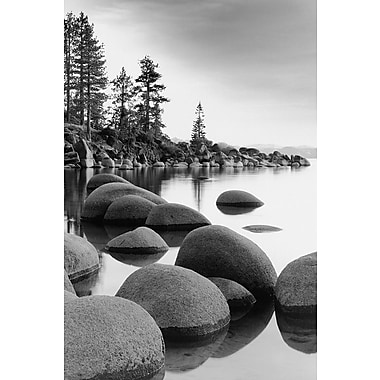 Affiche littoral du lac Tahoe, Californie, 24 x 36 po