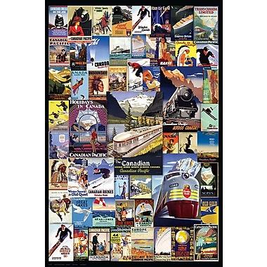 Affiches aventures en train, 24 x 36 po