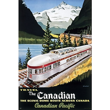 Affiche panoramique de train Canadian Pacifique, 24 x 36 po