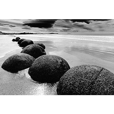 Affiche plage de Nouvelle-Zélande, 24 x 36 po