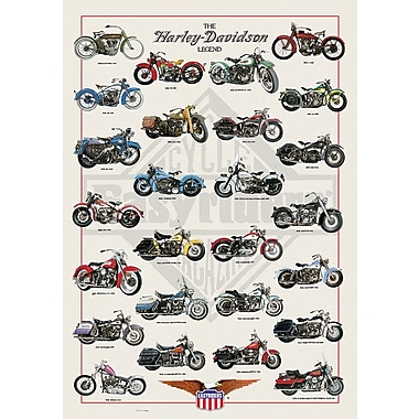 Affiche Harley Davidson Legend, 24 x 36 po