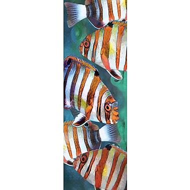 Affiche poisson arlequin, 11 3/4 x 36 po