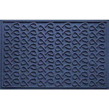 Bungalow Flooring Aqua Shield Cunningham Doormat; Navy