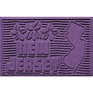 Bungalow Flooring Aqua Shield New Jersey Doormat; Purple