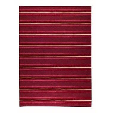 Hokku Designs Savannah Striped Purple Area Rug; Rectangle 5'6'' x 7'10''