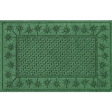 Bungalow Flooring Aqua Shield Island Palms Doormat; Light Green