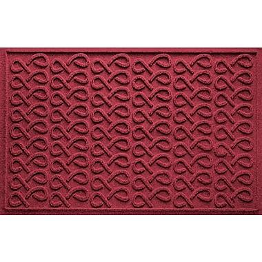Bungalow Flooring Aqua Shield Cunningham Doormat; Red/Black