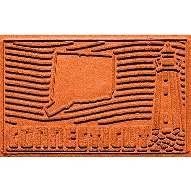 Bungalow Flooring Aqua Shield Connecticut Doormat; Orange
