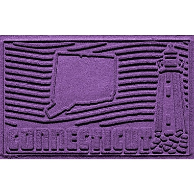 Bungalow Flooring Aqua Shield Connecticut Doormat; Purple