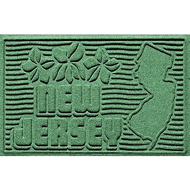 Bungalow Flooring Aqua Shield New Jersey Doormat; Light Green