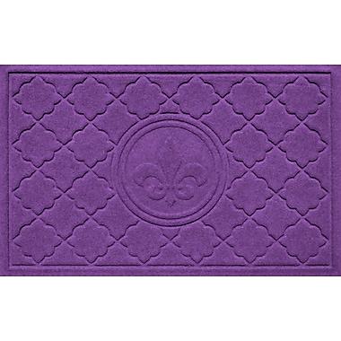 Bungalow Flooring Aqua Shield Bombay Fleur de Lis Doormat; Purple