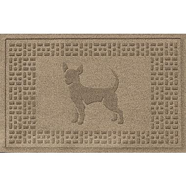 Bungalow Flooring Aqua Shield Chihuahua Doormat; Camel