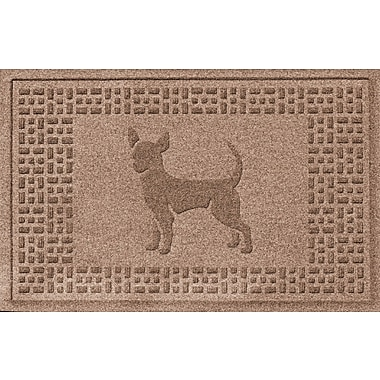 Bungalow Flooring Aqua Shield Chihuahua Doormat; Medium Brown