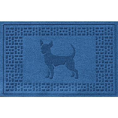 Bungalow Flooring Aqua Shield Chihuahua Doormat; Medium Blue