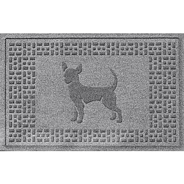 Bungalow Flooring Aqua Shield Chihuahua Doormat; Medium Gray