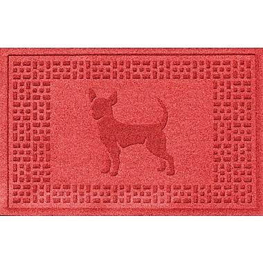 Bungalow Flooring Aqua Shield Chihuahua Doormat; Solid Red