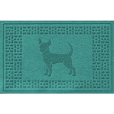 Bungalow Flooring Aqua Shield Chihuahua Doormat; Aquamarine