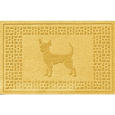 Bungalow Flooring Aqua Shield Chihuahua Doormat; Yellow