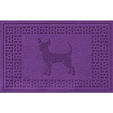 Bungalow Flooring Aqua Shield Chihuahua Doormat; Purple