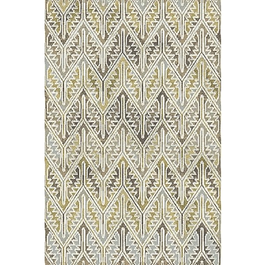 Dynamic Rugs Royal Treasure Gray/Yellow Area Rug; Rectangle 3'6'' x 5'6''