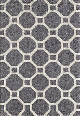 Dynamic Rugs Silky Gray Area Rug; Rectangle 6'7'' x 9'6''