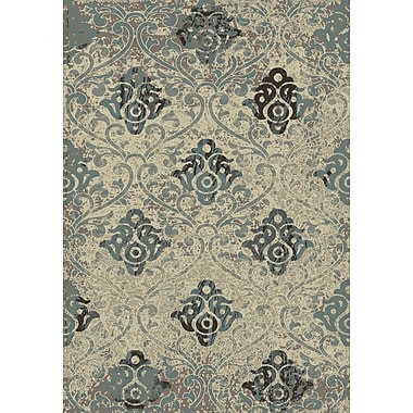 Dynamic Rugs Treasure II Camel/Blue Area Rug; 5'3'' x 7'7''