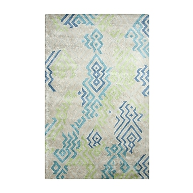 Dynamic Rugs Vogue Cream/Blue Area Rug; 2' x 4'
