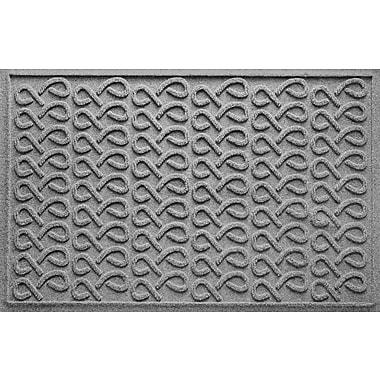 Bungalow Flooring Aqua Shield Cunningham Doormat; Medium Gray