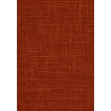 Dynamic Rugs Flair Red Area Rug; 5'3'' x 7'7''