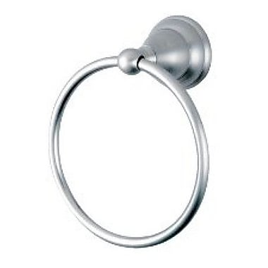 Elements of Design Royale Wall Mounted Atlanta Towel Ring; Satin Nickel