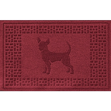 Bungalow Flooring Aqua Shield Chihuahua Doormat; Red/Black