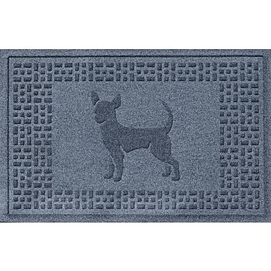Bungalow Flooring Aqua Shield Chihuahua Doormat; Bluestone