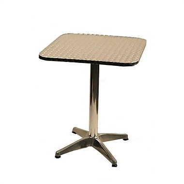 Alston Square Top Aluminum Table; 24'' x 24''