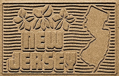 Bungalow Flooring Aqua Shield New Jersey Doormat; Gold