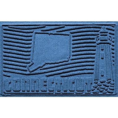 Bungalow Flooring Aqua Shield Connecticut Doormat; Medium Blue